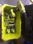 UTHYRES - Skruvdragare med tre batterier