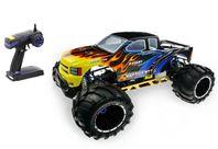 1:5 RC Monster Truck Skeleton 4x4 Bensin bil