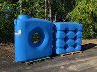 Vattentankar i olika modeller 500- 2000 liter