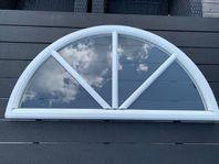 Fönster Halvmåne med spröjs 1-glas- Billigt