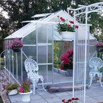 Växthus 10,7m² - Extra hög odlingshöjd - REA