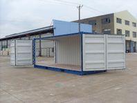 Nya 20ft container med öppningsbar långsida