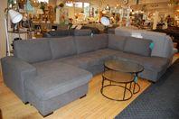 Ny U-soffa i tyg lagervara