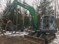 UTHYRES - Grävare Neuson 8003 RD/rotortill ut