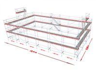 Ställningspaket modul 354 m2, 153.900 kr+m