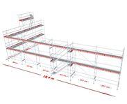 Ställningspaket modul 182 m2, 87.900 kr