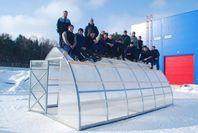 Kraftiga växthus - upp till 4,5m snö