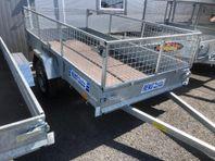 Obromsad Reko trailer med eller utan galler