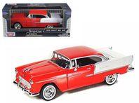 Chevrolet Bel Air 1955 - röd/vit - skala 1:24