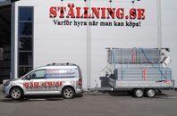 Boggitrailer inkl. byggställning 182 m2