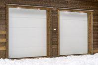 Isolerad garageport håller garaget varmt
