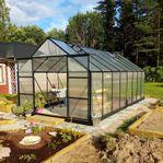 Stort växthus 18m² - Utökad odlingshöjd - REA