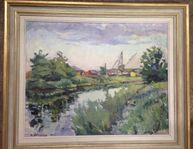 Harald Östergren - Oljemålning, Landskap