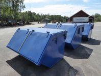 Täckta BM Containers med lock Stora BM Fästet