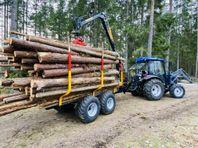 Country 5ton 7ton Timmervagnar för Traktor