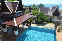 Stor lyxvilla direkt vid havet i Mae Phim