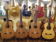 Exklusiva nylonsträngade gitarrer