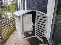 Värmepumps skydd i plåt -enkelt att montera