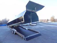 Skotersläp 3s Alutrailers S650-BW Aluminium