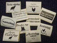 Etiketter till äggförpackningar