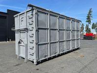 Hakarps - 40m3 container med öppningsbar sida + kapell