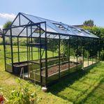 Växthus 12,7m² - 4mm säkerhetsglas - REA