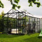 Växthus 8,0m² - 4mm säkerhetsglas - REA