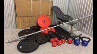 Gym träning skivstång 50mm vikter
