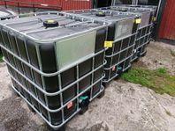 IBC tank container 1000 lit. med värme