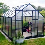 Växthus 8,9m² - Utökad odlingshöjd