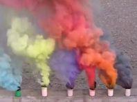 Rökpatroner - vit och flerfärgad rök