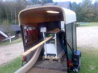 Sågning av timmer med sågverk, mobil hyvel