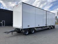 SL Trailer - 4-axlat SKAB skåpsläp - tillval dubbla lastplan