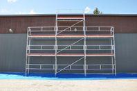 Byggställning 9x6m med gaveltopp alu 29700:-