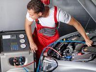 AC-Service med påfyllning av gas