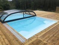 3x6 PP-Pool Paket med Pooltak och Värmepump