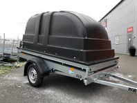Obromsad släpvagn Fogelsta FS1425 kåpa + tipp LÖRDAGSÖPPET