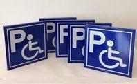 """Skylt """"Handikapparkering"""" - en hållbar skylt"""