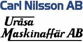 Uråsa Maskinaffär AB / Carl Nilsson AB logotyp